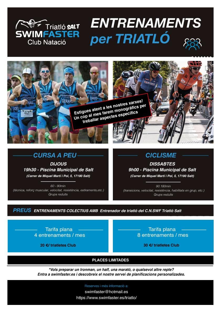Entrenaments per triatló